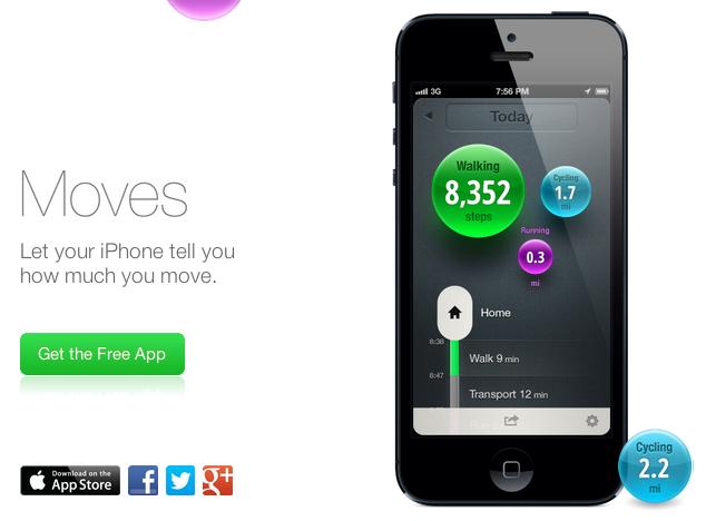Moves для iPhone пытается заменить Fitbit, Nike+ Fuelband, Jawbone UP всего одним приложением