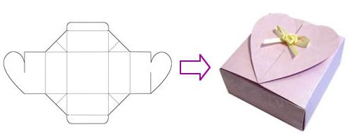 Шаблон подарочной коробочки своими руками
