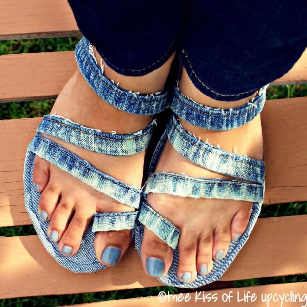 Сандалии из джинсов