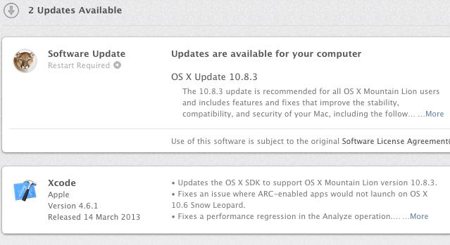 Вышла OS X 10.8.3