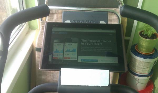 Советы от читателей: подставка под планшет для велотренажера или беговой дорожки