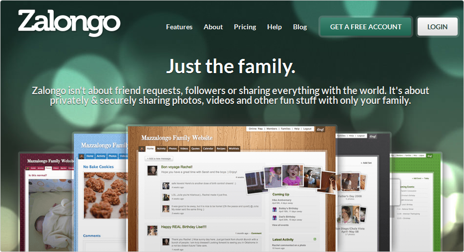 Zalongo — ваш маленький семейный Facebook