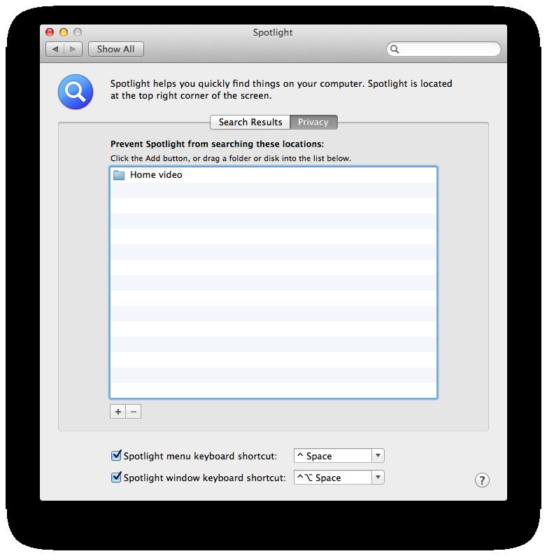 Как исключить файл или папку из индекса Spotlight на Mac