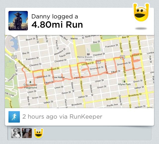 Пробежки из Runkeeper теперь передаются в систему Jawbone UP