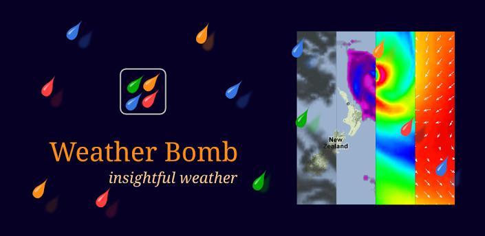 WeatherBomb — серьезный погодный информер для Android