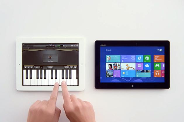 Microsoft выпустила рекламу планшета на Windows 8, в которой высмеиваются недостатки и высокая цена iPad