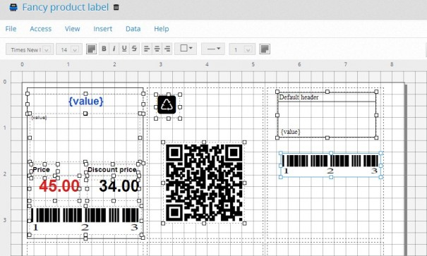 QR Code and Barcode Label Generator