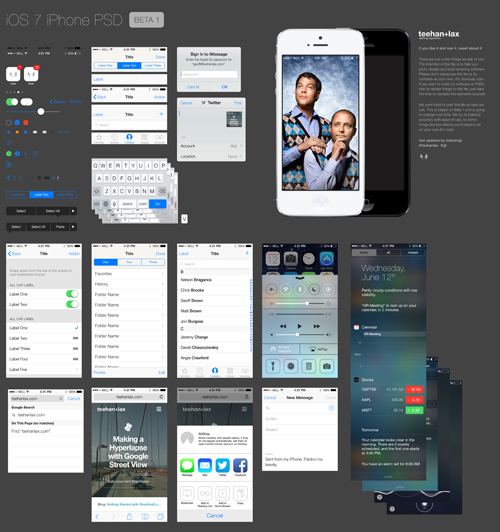 iOS 7 GUI PSD (iPhone 5)
