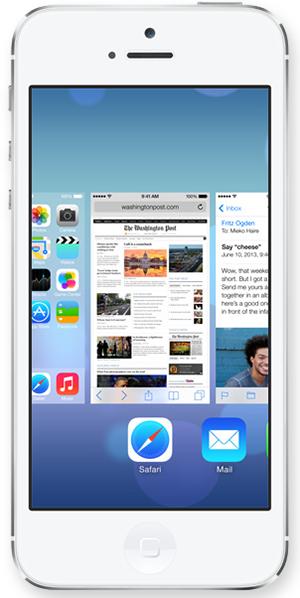 Как быстро закрыть несколько приложений в iOS 7