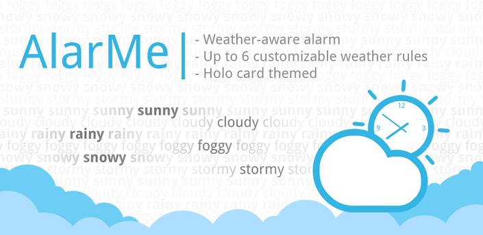 AlarMe для Android: будильник с поправкой на погоду
