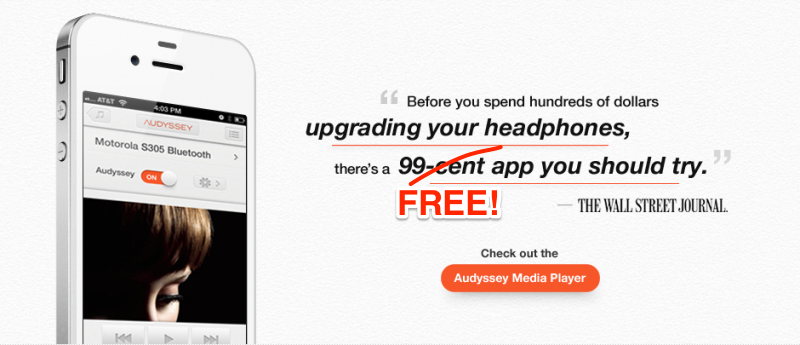 Audyssey Media Player для iPhone/iPad создан специально для ваших наушников