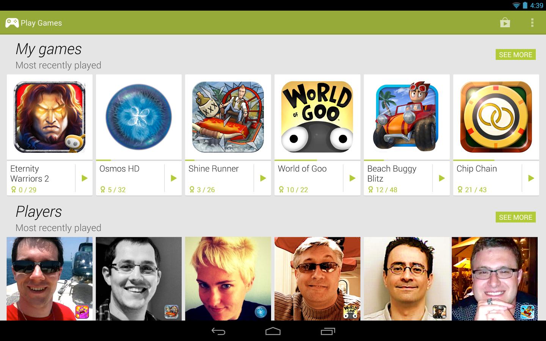 Новое приложение Google Play Games превращает Android в социальную игровую платформу