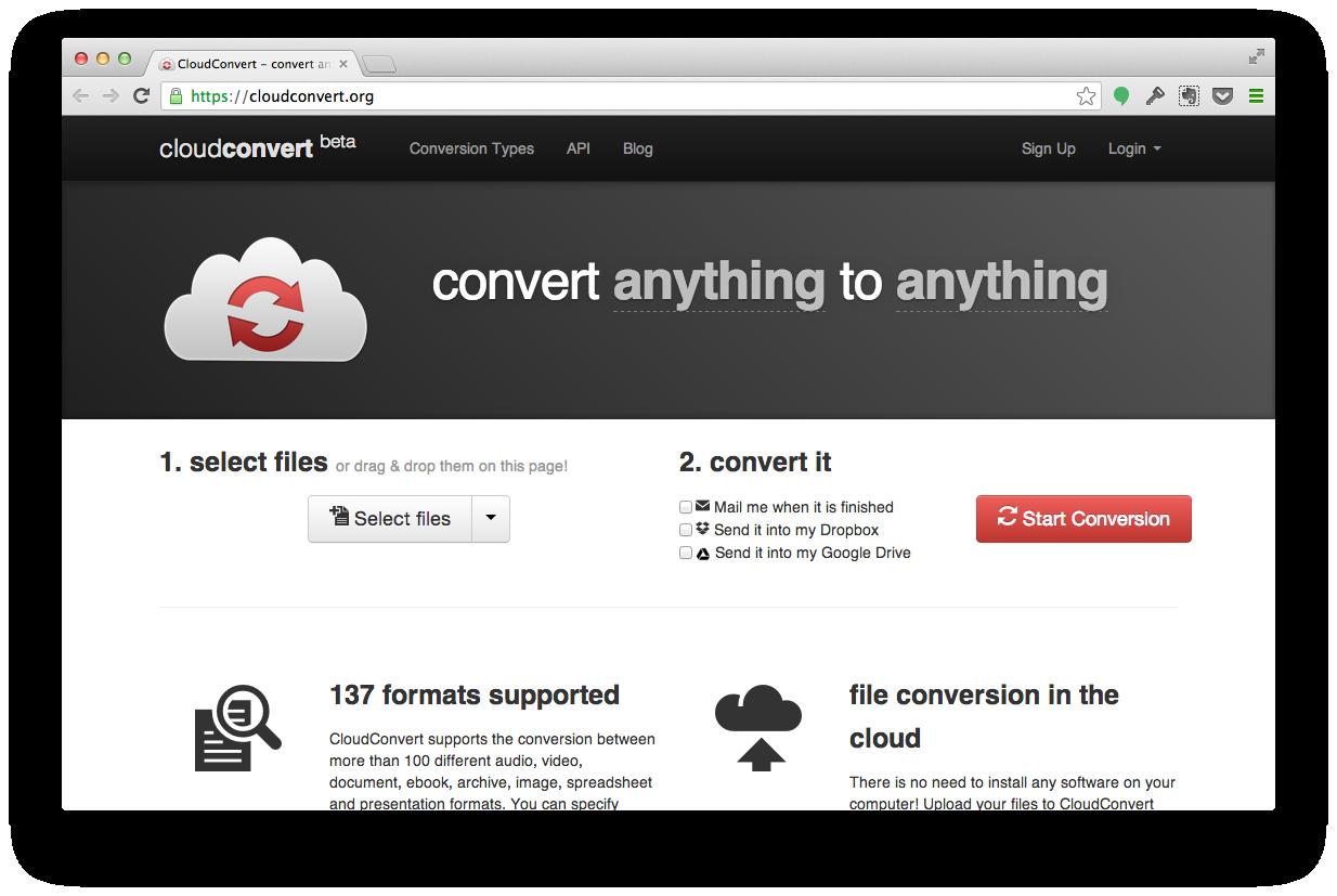 Как легко конвертировать файлы прямо в облаках