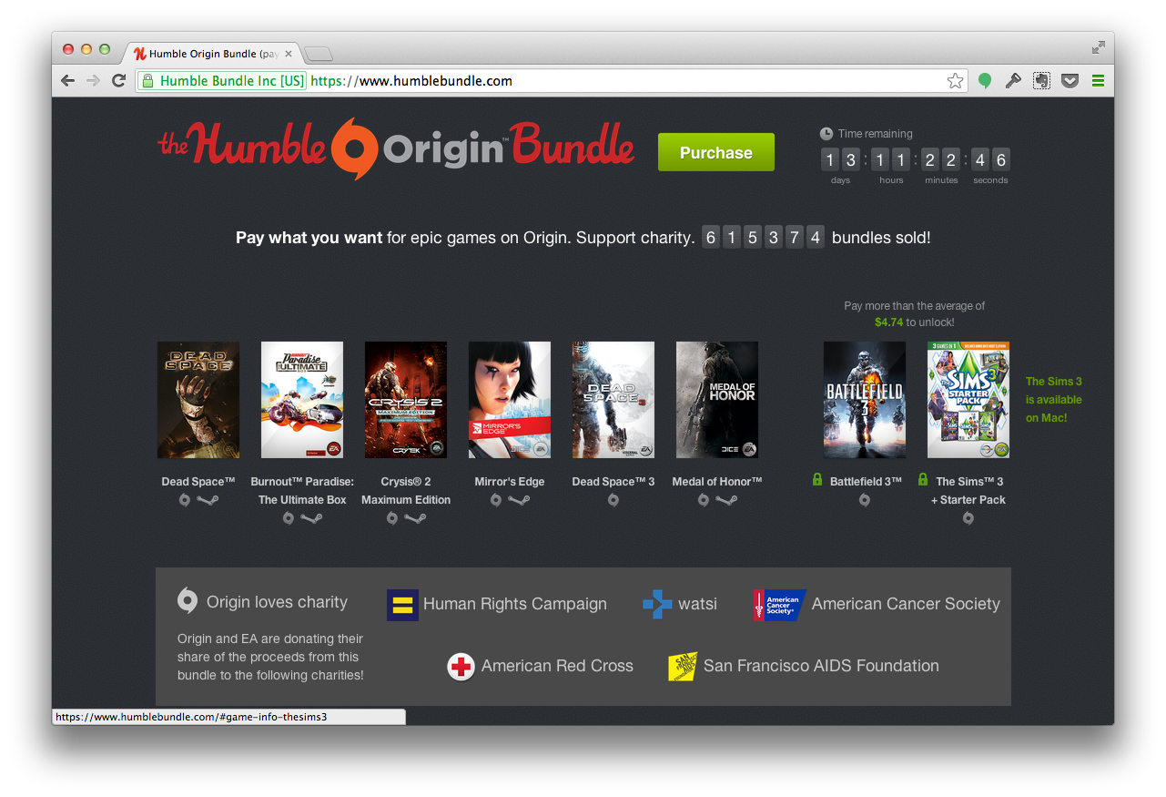 Как получить за $5 Burnout, Crysis 2, Mirror's Edge, Dead Space 3, Medal of Honor, Battlefield 3™ и другие игры