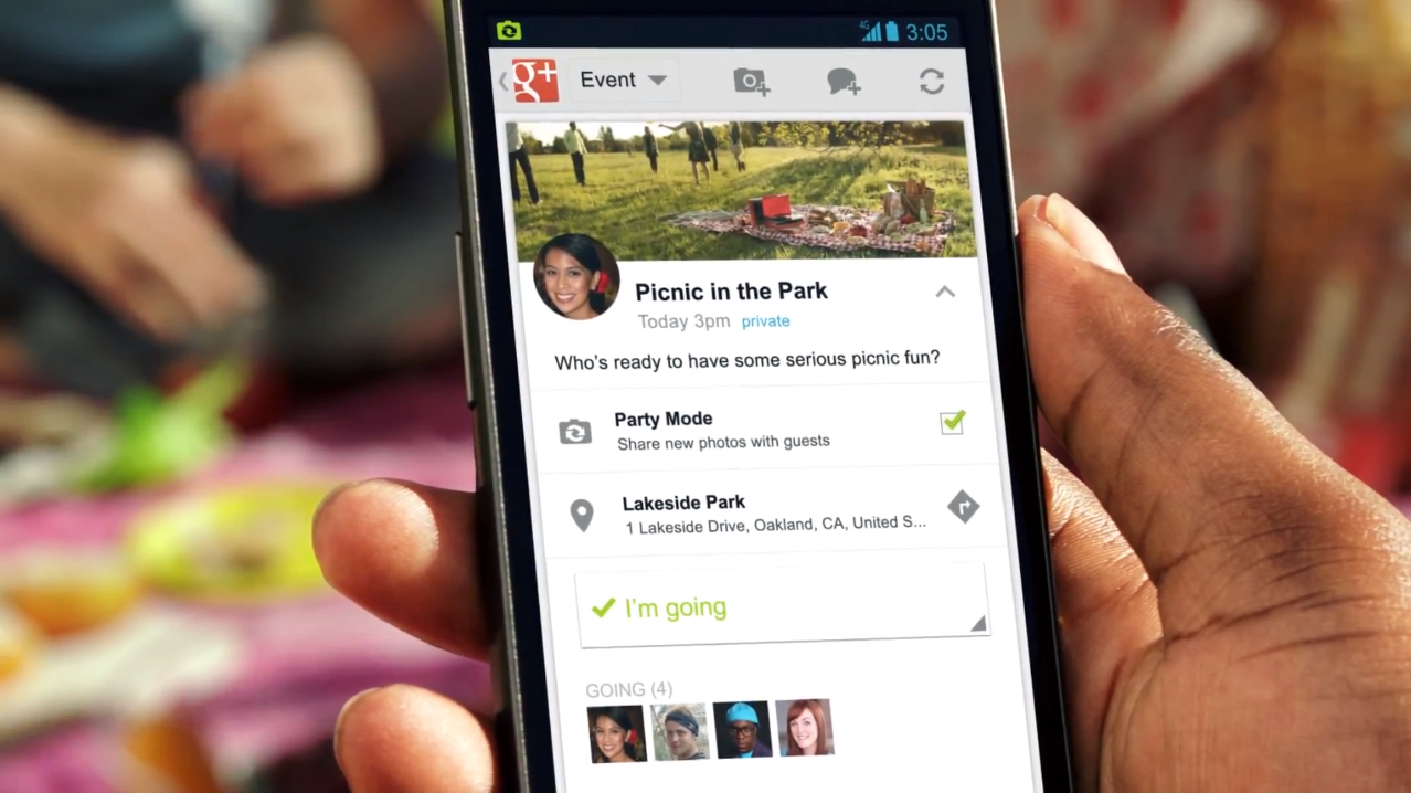 Google+ для Android позволяет шарить локации и фотографии с вечеринок в реальном времени