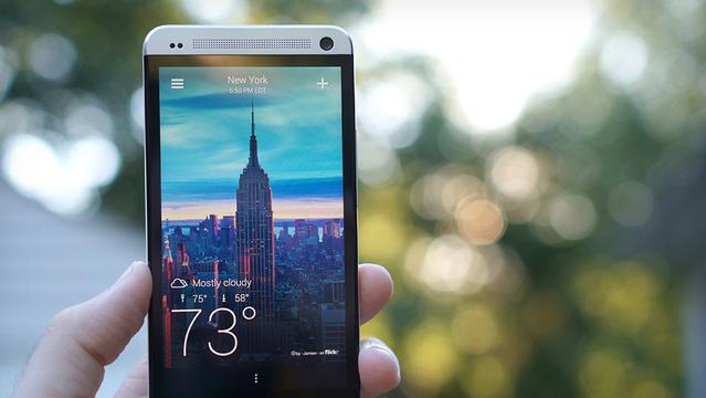 Красивый Yahoo! Weather доступен для Android