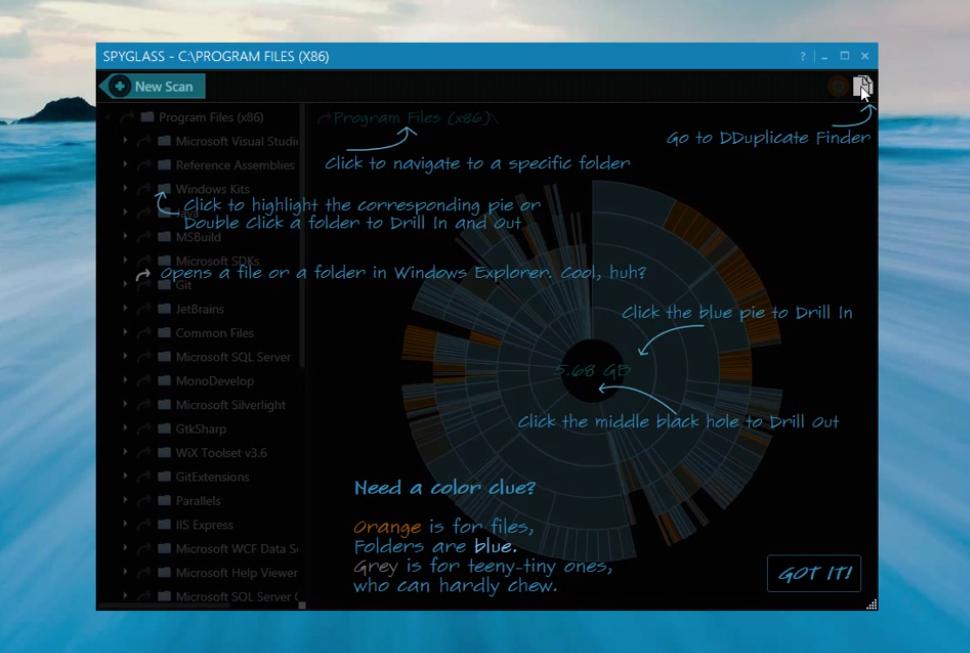 Spyglass для Windows помогает понять чем забит ваш HDD