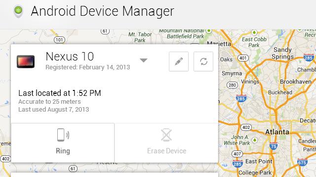 Google поможет найти украденный Android-смартфон