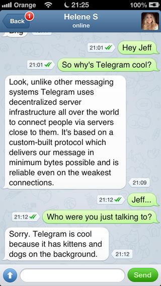 Telegram Messenger: утрись, WhatsApp!
