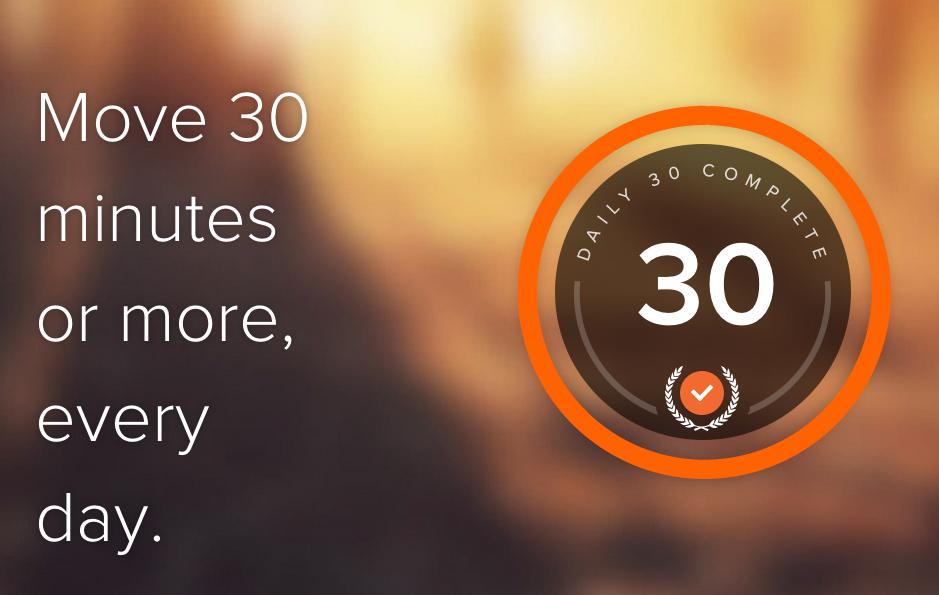 Human помогает двигаться 30 минут в день