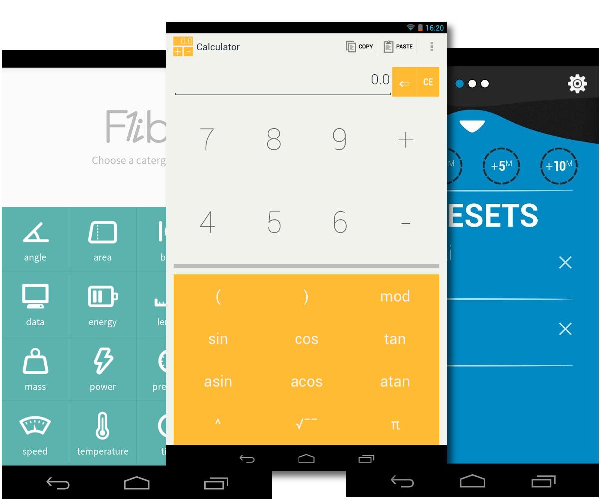 Яркие штучки: калькулятор, конвертер и таймер для Android