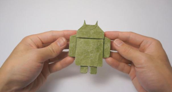 Как сделать бумажную фигурку Android (оригами)