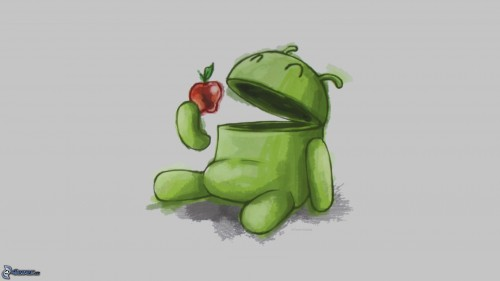 [pictures.4ever.eu] android, apple, cartoon 157807
