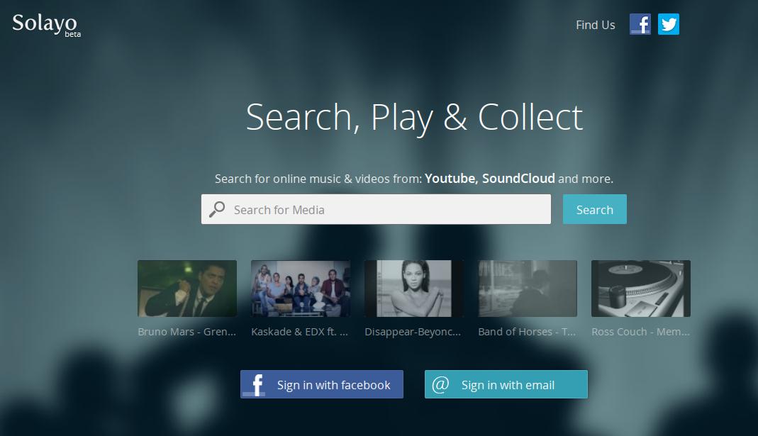 Solayo — создавайте музыкальные плейлисты из песен YouTube, Soundcloud и Dailymotion