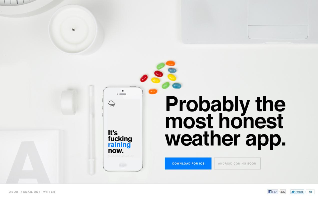Наверное самый честный прогноз погоды