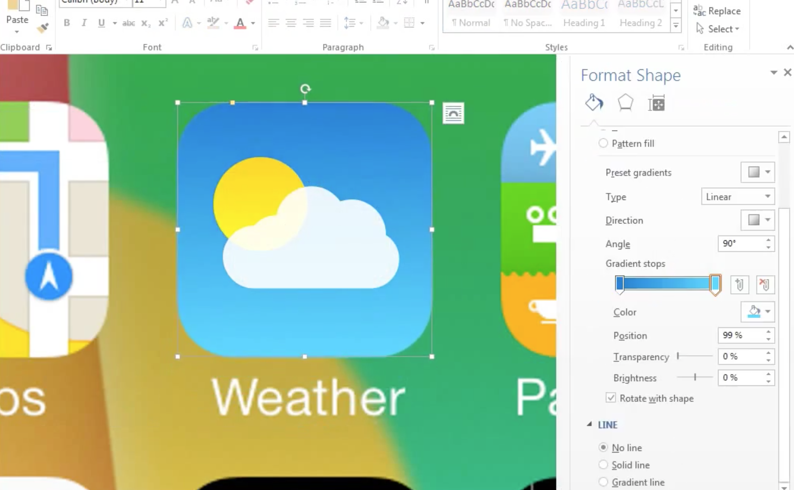 Microsoft Word настолько хорош, что в нем можно нарисовать новый интерфейс iOS 7!