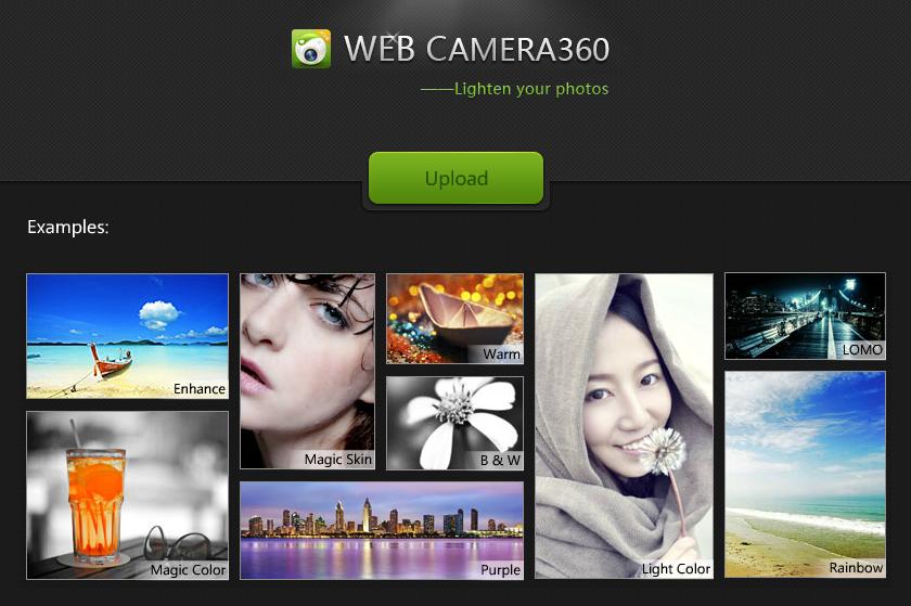 Web Camera360 — редактируем фото онлайн