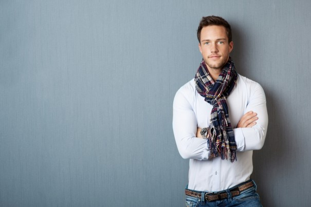 шарф, завязать шарф