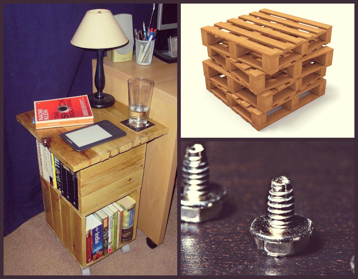Как сделать столик с книжными полками из паллеты