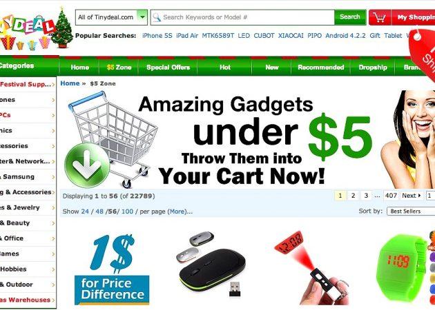 TinyDeal: тысячи товаров с бесплатной доставкой из Китая