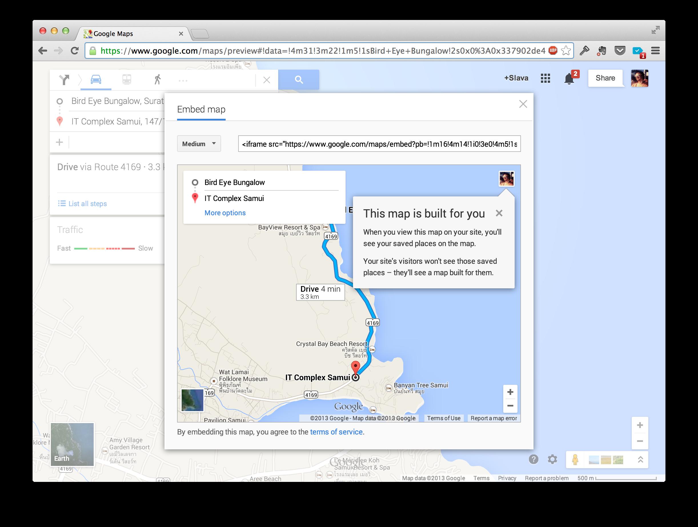 Теперь вы можете вставлять карты Google Maps на сайты с маршрутами и другим функционалом