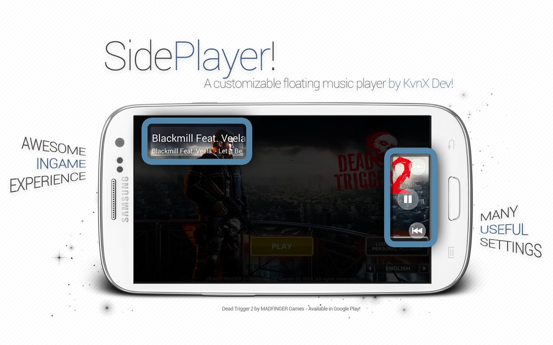SidePlayer — управление музыкой из любого приложения