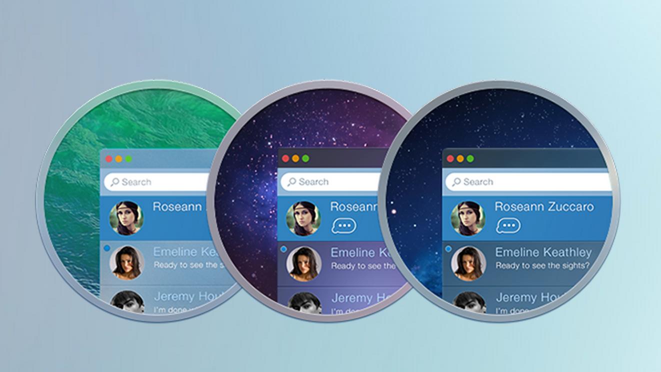 Концепт редизайна приложения Messages на OS X, на который стоит обратить внимание