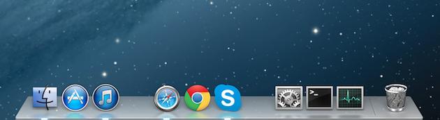 Как добавить разделитель к иконкам дока в OS X