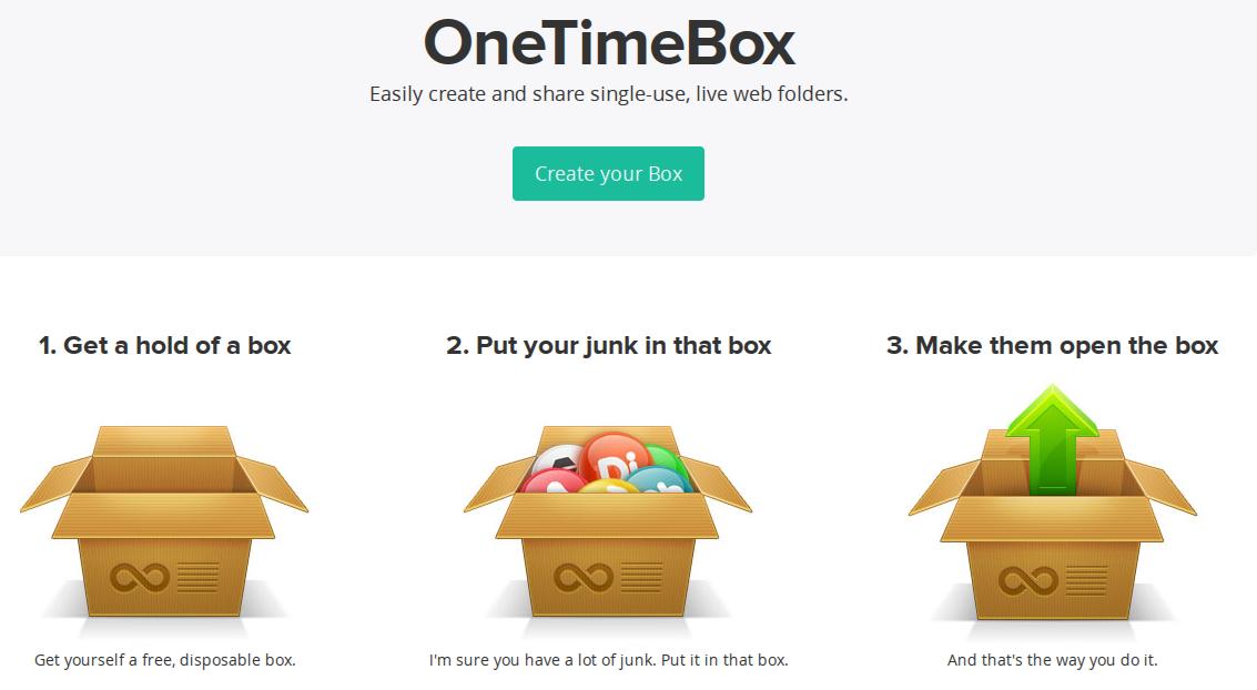 OneTimeBox — облачная папка для вас и ваших друзей