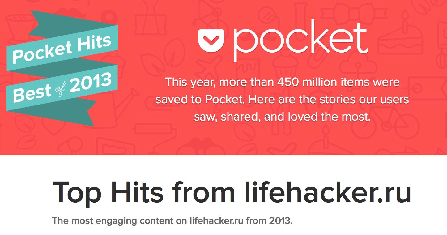 ТОП-10: Лучшие статьи Лайфхакера по мнению пользователей читалки Pocket