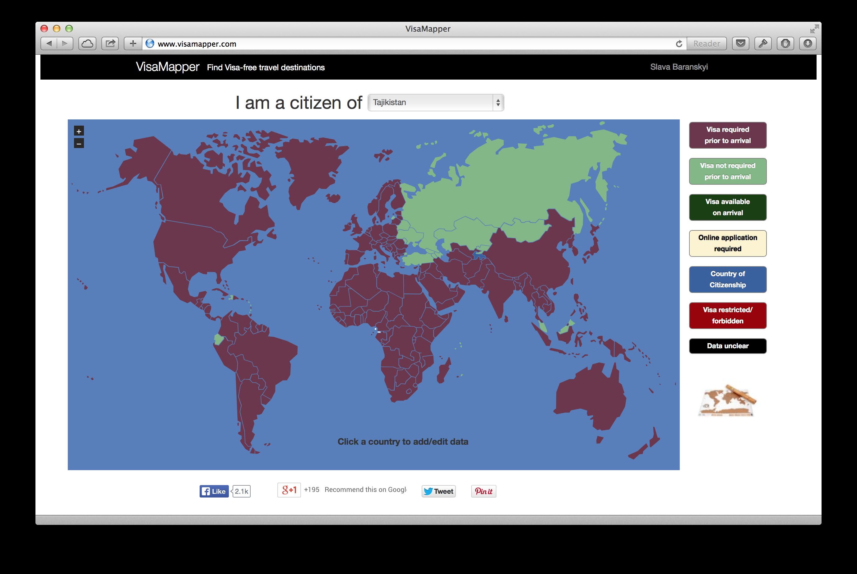 Как узнать визовый режим любой страны мира, если вы гражданин России, Украины, Белоруссии, Казахстана, …