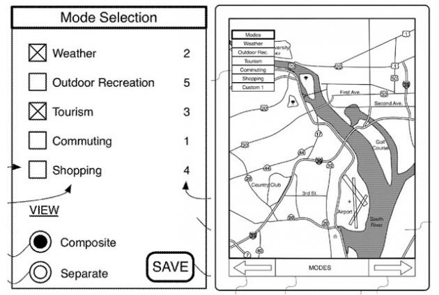 Apple запатентовала интерактивную карту
