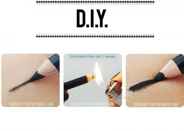 Как сделать карандаш для глаз своими руками из обычного карандаша