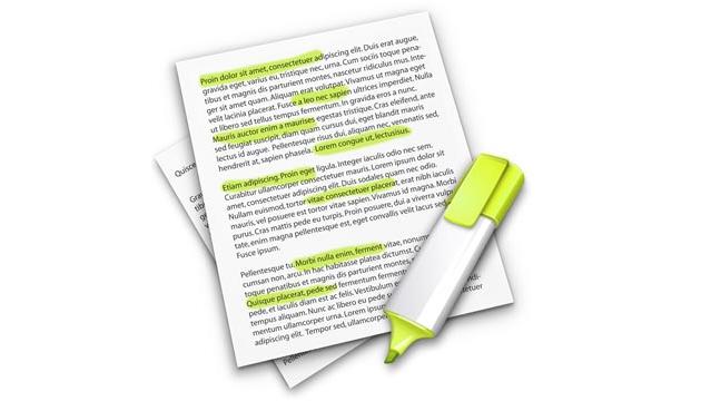 Как на Mac сделать выдержки из текста, используя встроенную функцию Конспекты