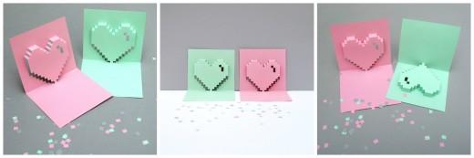 Гиковская валентинка в стиле пиксель-арт