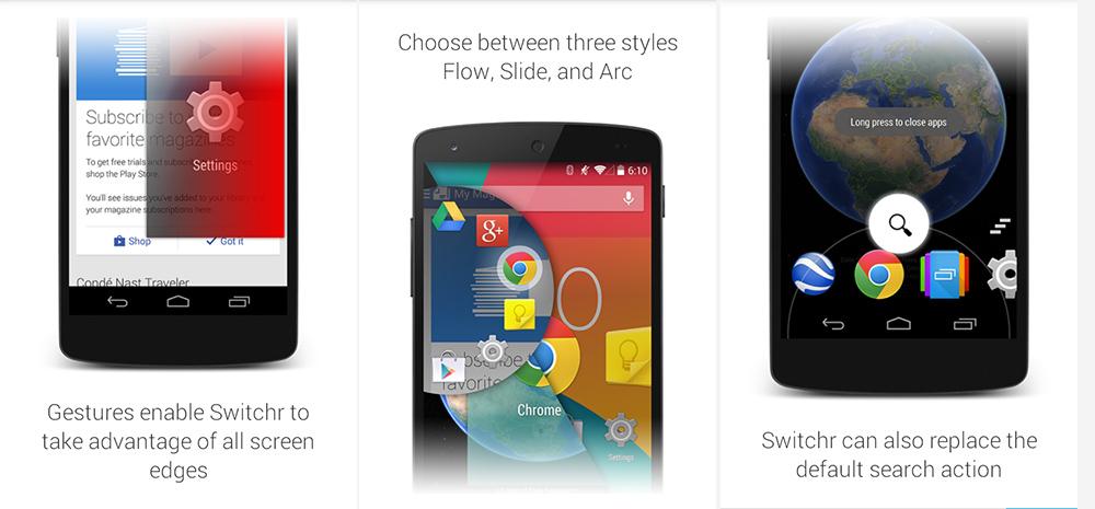 Switchr для Android — быстрое и элегантное переключение между приложениями