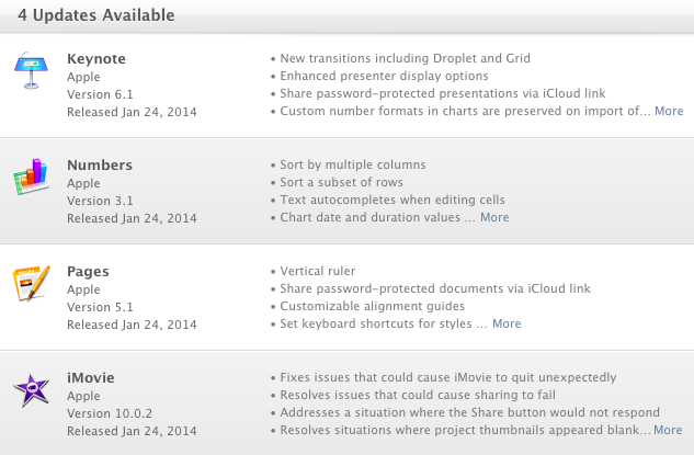 Большое обновление iWork добавило функциональности