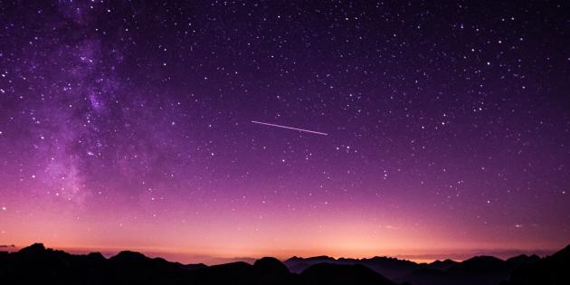 Красивое фото ночного неба