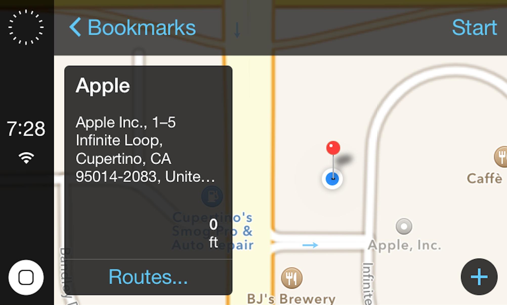 Разработчик активировал систему iOS in the Car и показал ее интерфейс