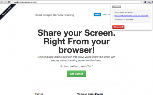 Dead Simple Screen Sharing